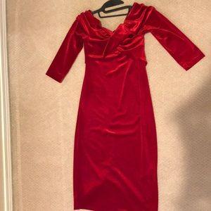 Zara velvet red dress--nwot